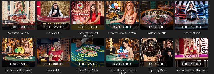 iBet Casino Live Tischspiele
