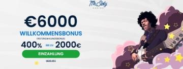 Mr Sloty Casino Willkommensbonus