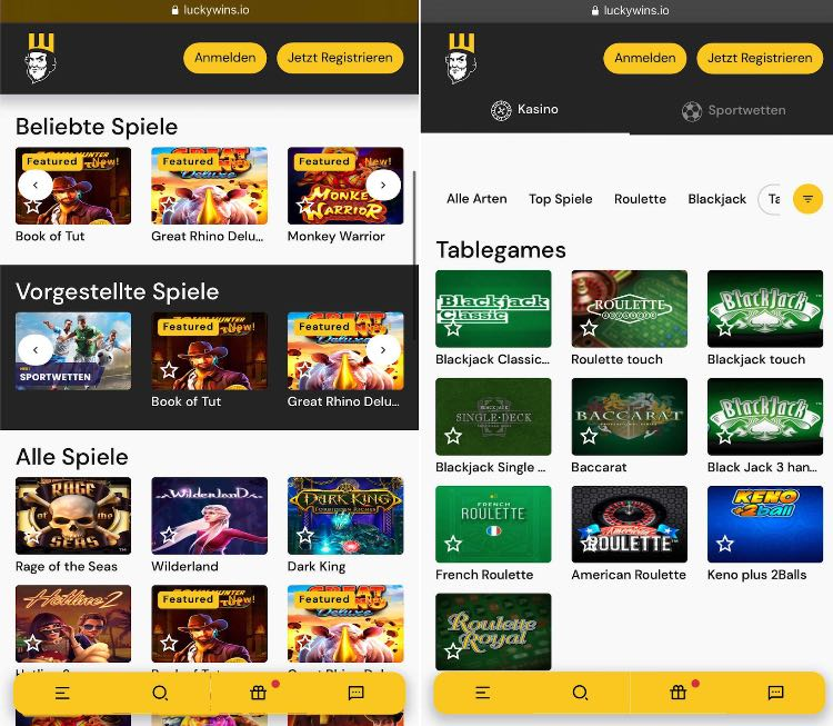 Lucky Wins Casino App