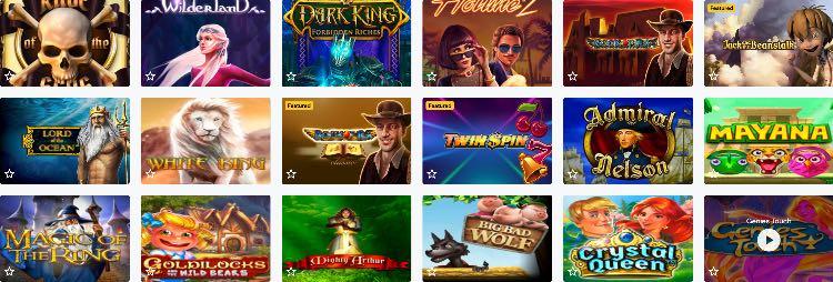 Lucky Wins Casino Spieleangebot