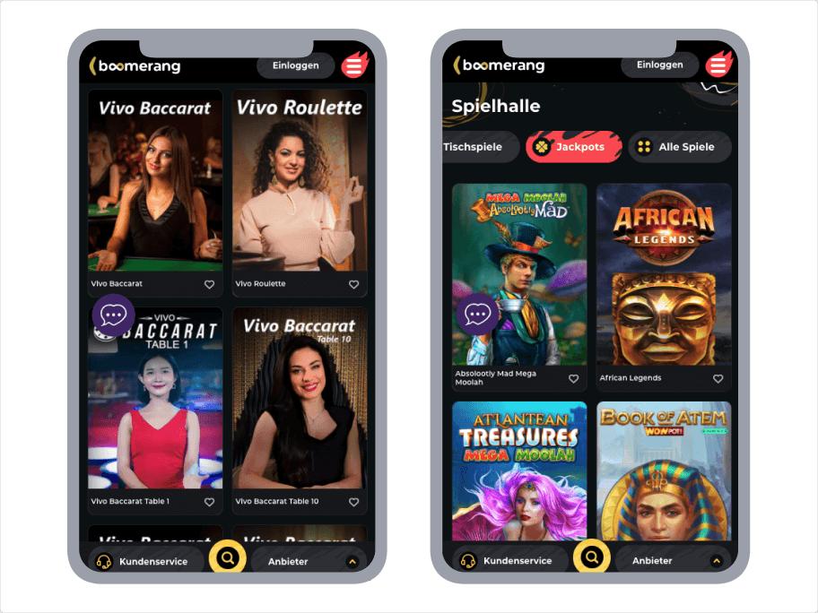 Boomerang Casino App