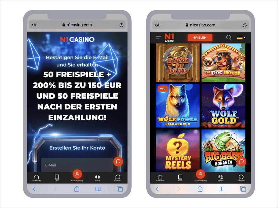 N1 Casino mobile