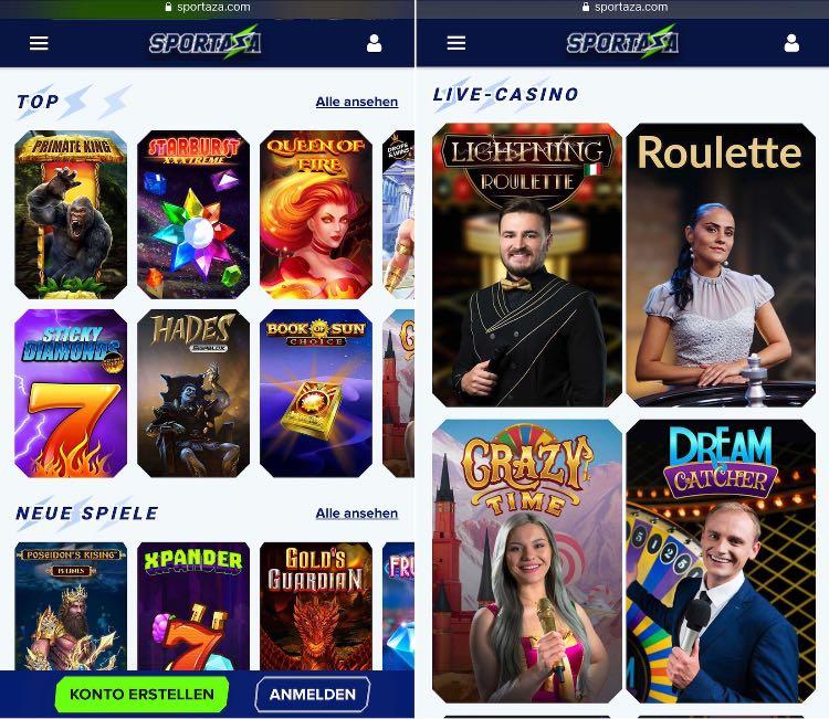 Sportaza Casino App