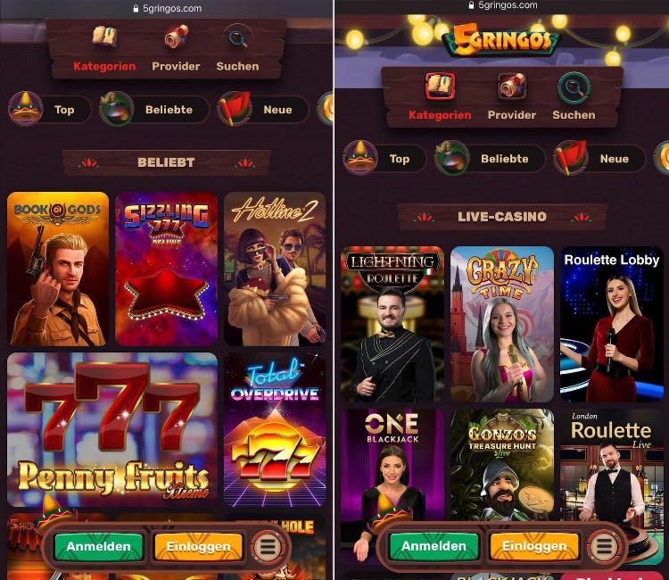 5 Gringos Casino App
