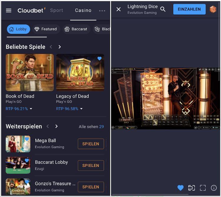 Cloudbet Casino App
