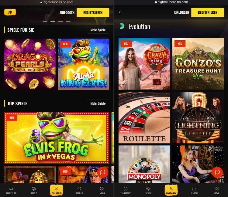 Fight Club Casino App