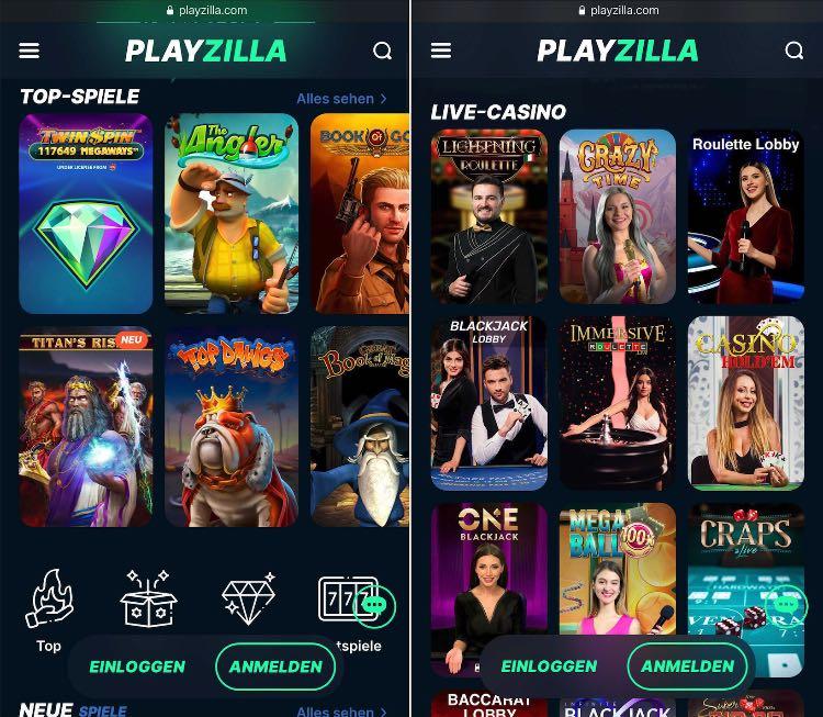 Playzilla Casino App