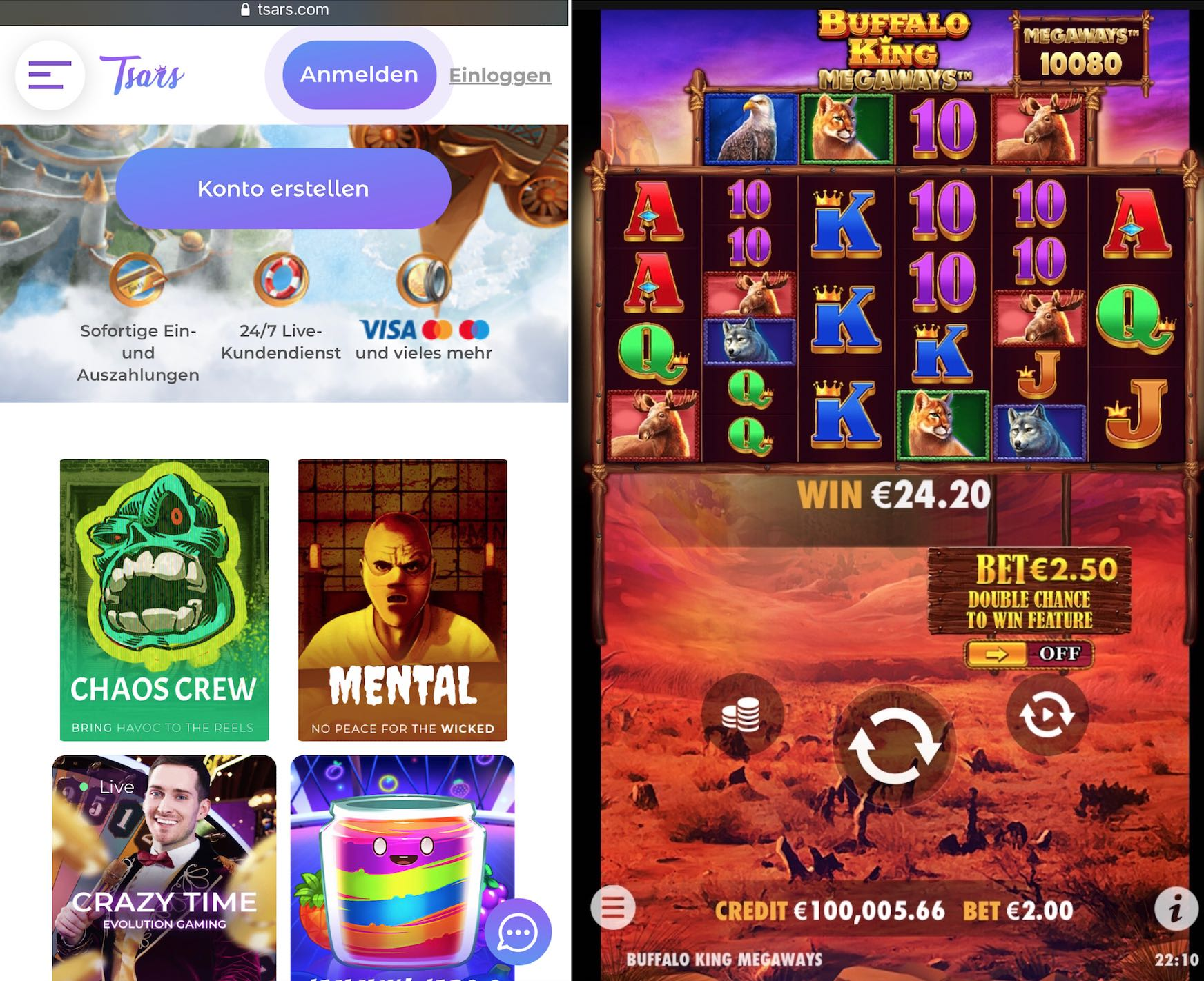 Tsars Casino App