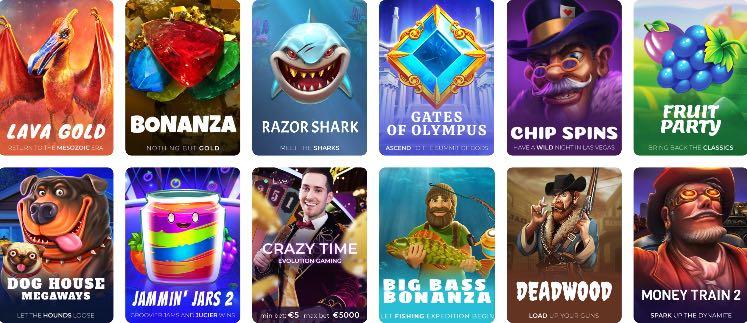Tsars Casino Spieleangebot