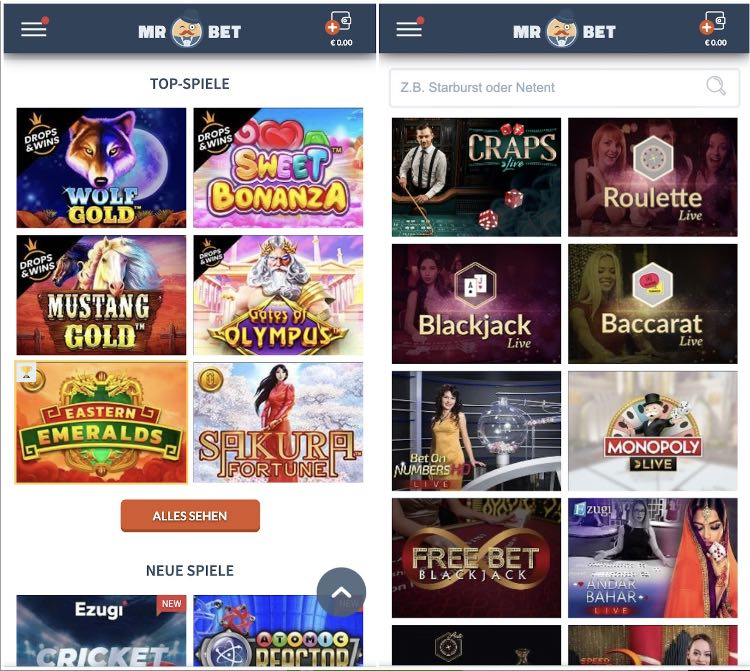 Mr. Bet Casino App